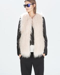 Faux Fur Zara Beige