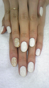 White with a touch of gold