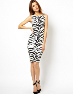ASOS zebra dress
