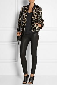 DKNY leopard bomber jacket