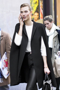 Karlie Kloss cape coat