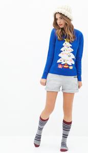 Forever21 blauwe kersttrui