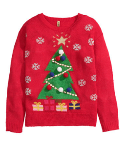 Kerstboom trui H&M