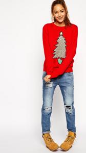 Rode kersttrui ASOS