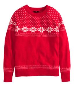 Rode kersttrui H&M