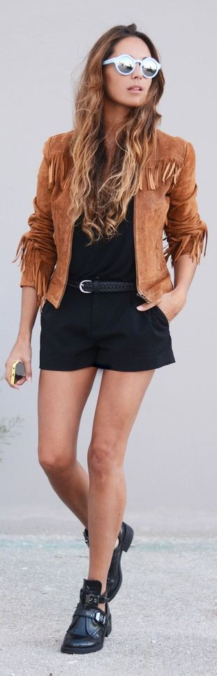 How to style a fringed jacket